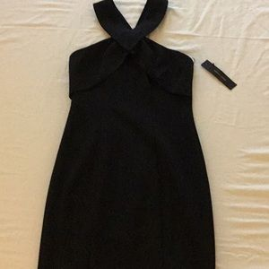 New with tags Black Criss-cross halter dress